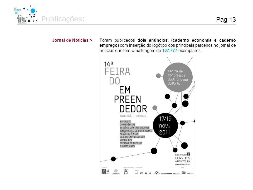 Publicações: Pag 13 Jornal de Notícias >