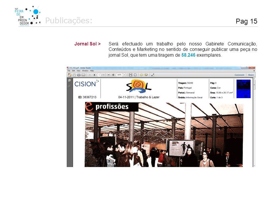 Publicações: Pag 15 Jornal Sol >