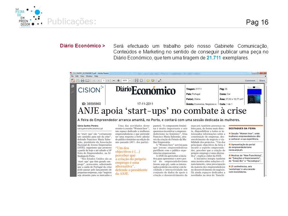 Publicações: Pag 16 Diário Económico >