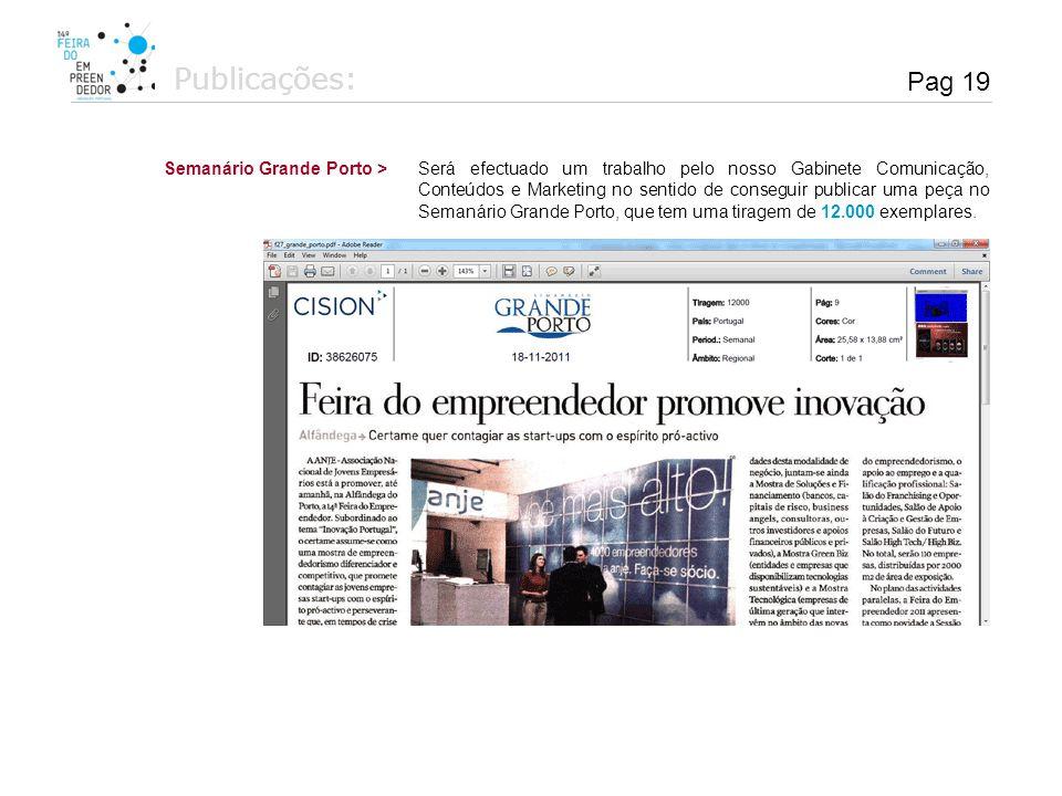 Publicações: Pag 19 Semanário Grande Porto >