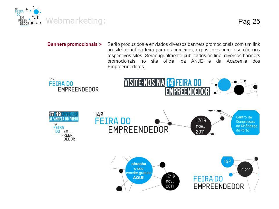Webmarketing: Pag 25 Banners promocionais >