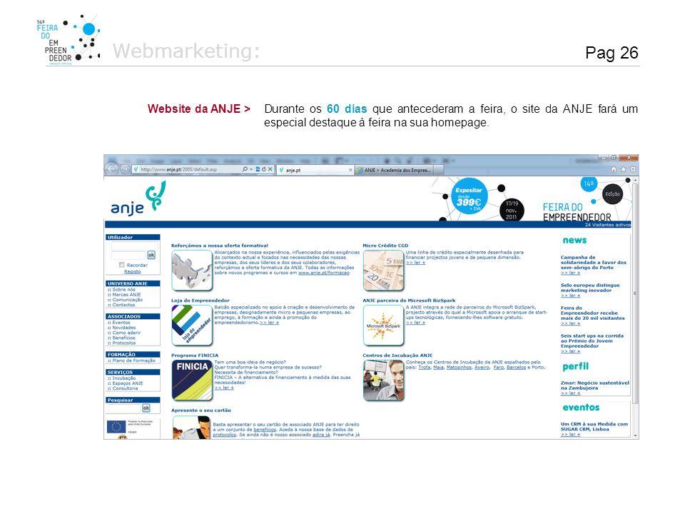 Webmarketing: Pag 26 Website da ANJE >
