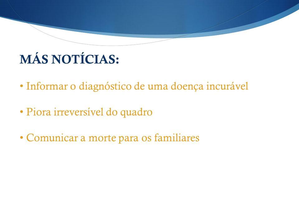 MÁS NOTÍCIAS: Informar o diagnóstico de uma doença incurável