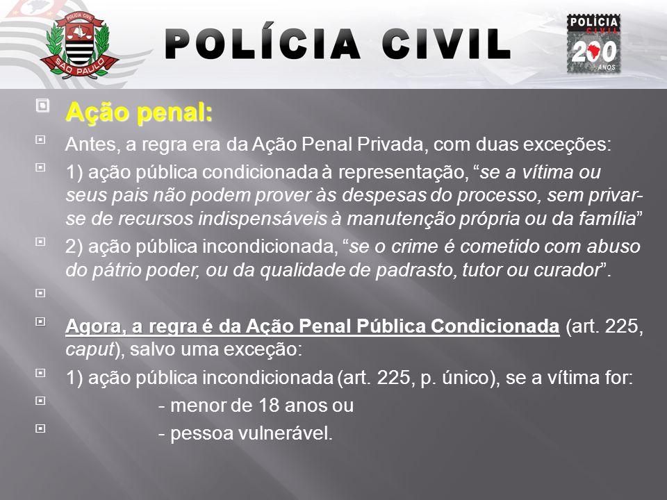 Introdução Ação penal: