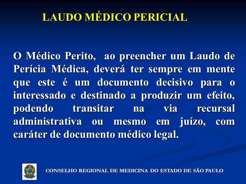 LAUDO MÉDICO PERICIAL