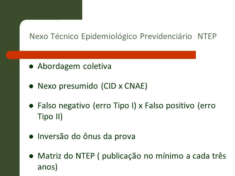 Nexo Técnico Epidemiológico Previdenciário NTEP