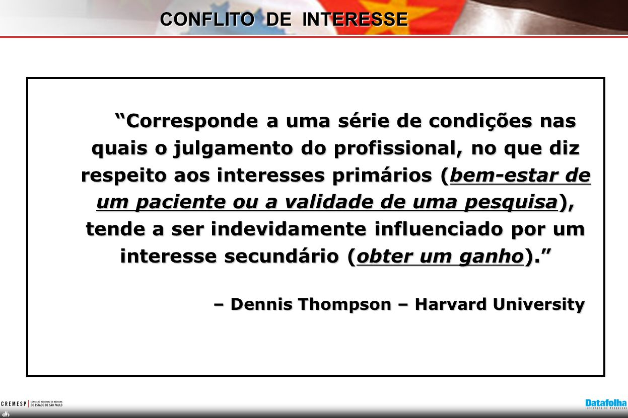 CONFLITO DE INTERESSE