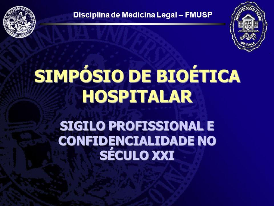 SIMPÓSIO DE BIOÉTICA HOSPITALAR