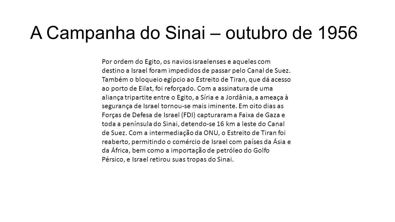 A Campanha do Sinai – outubro de 1956