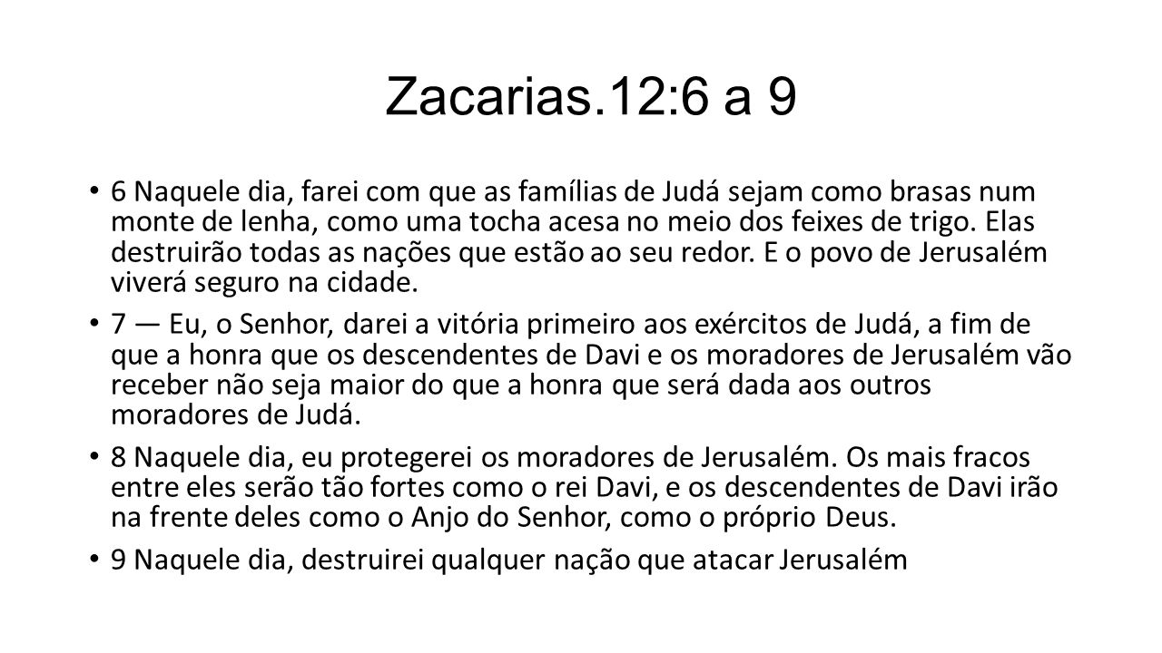 Zacarias.12:6 a 9