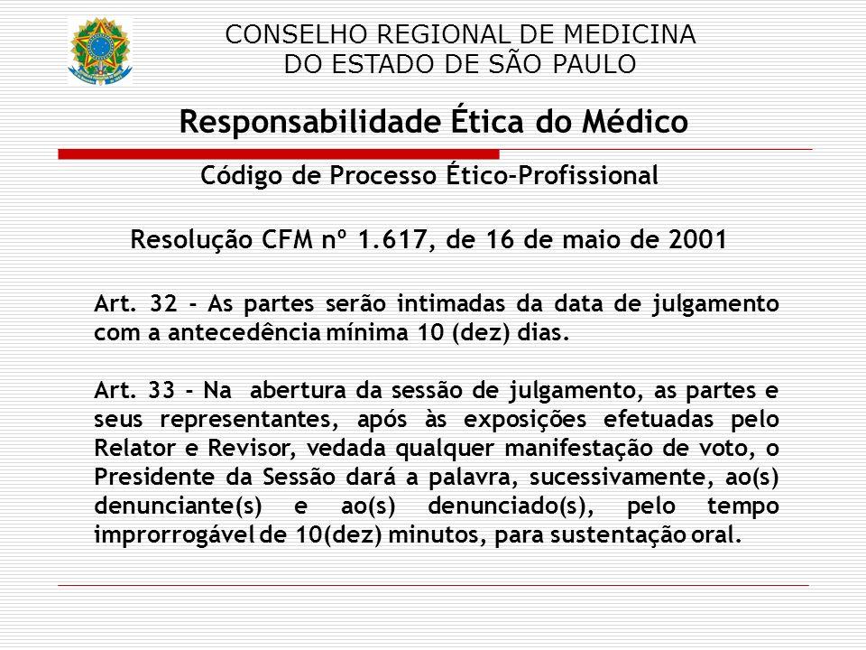 Responsabilidade Ética do Médico