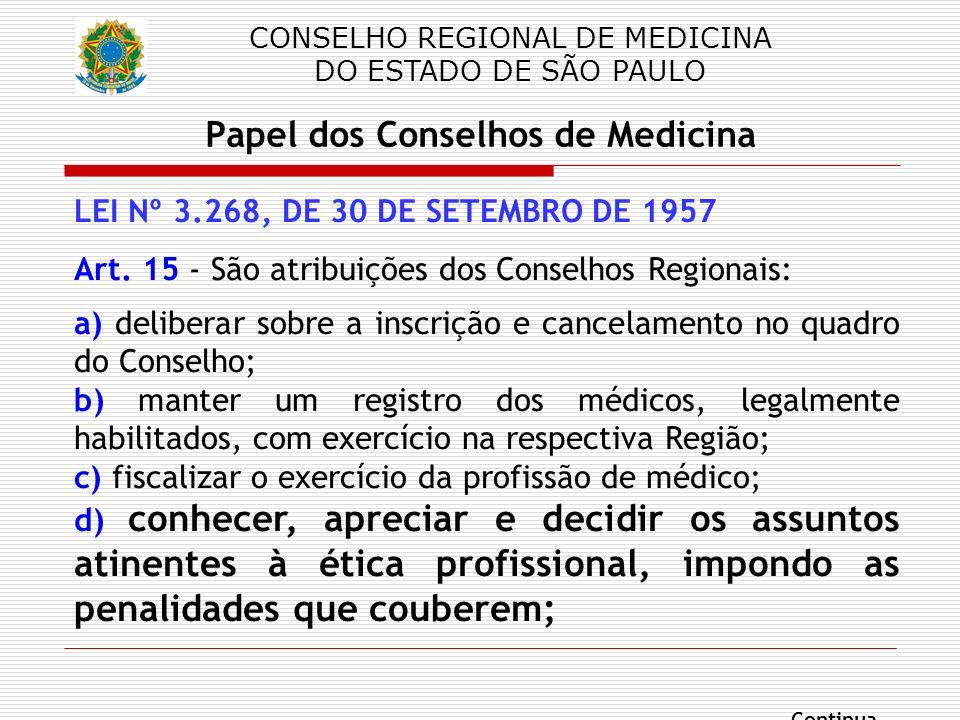 Papel dos Conselhos de Medicina
