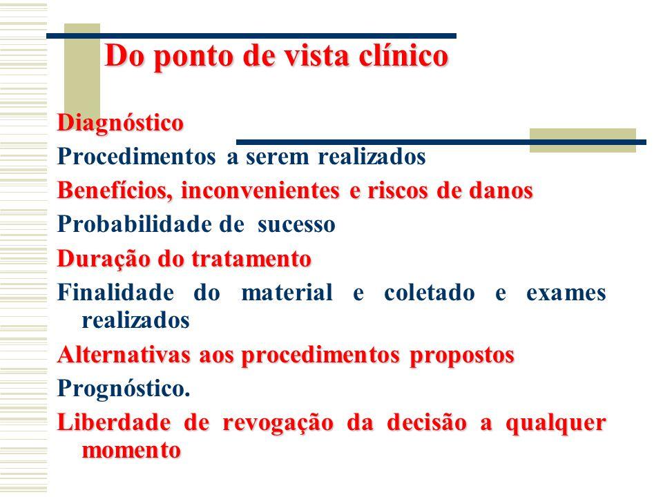 Do ponto de vista clínico
