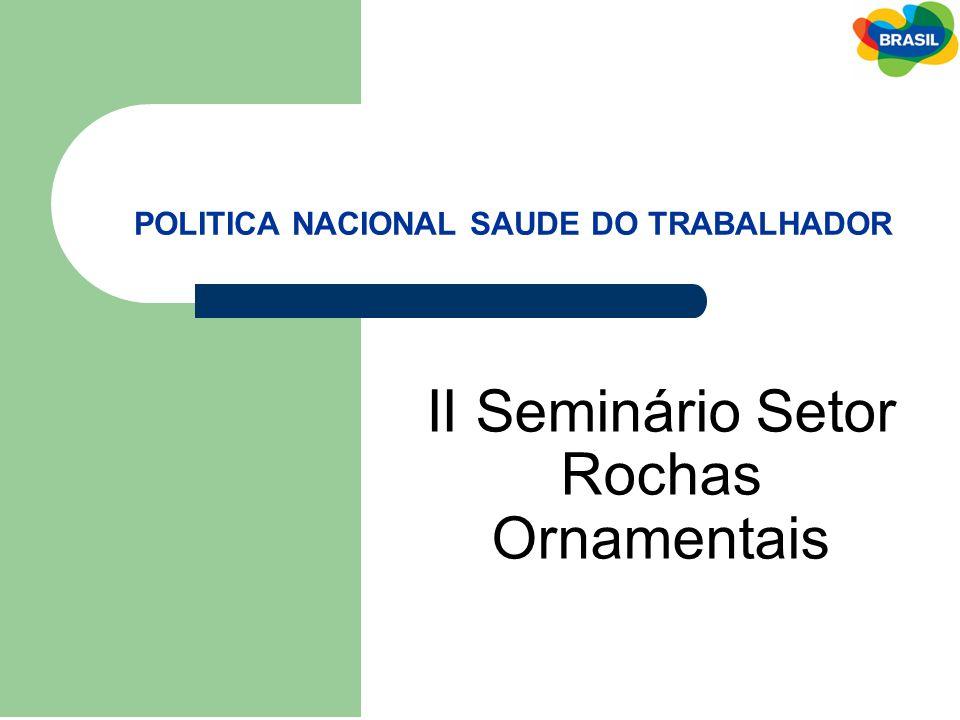POLITICA NACIONAL SAUDE DO TRABALHADOR