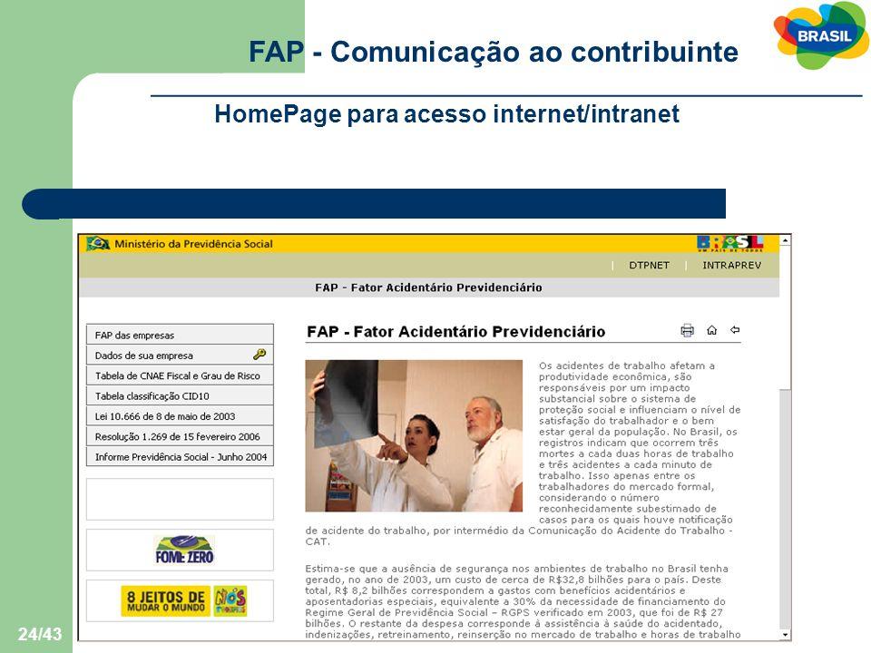 FAP - Comunicação ao contribuinte