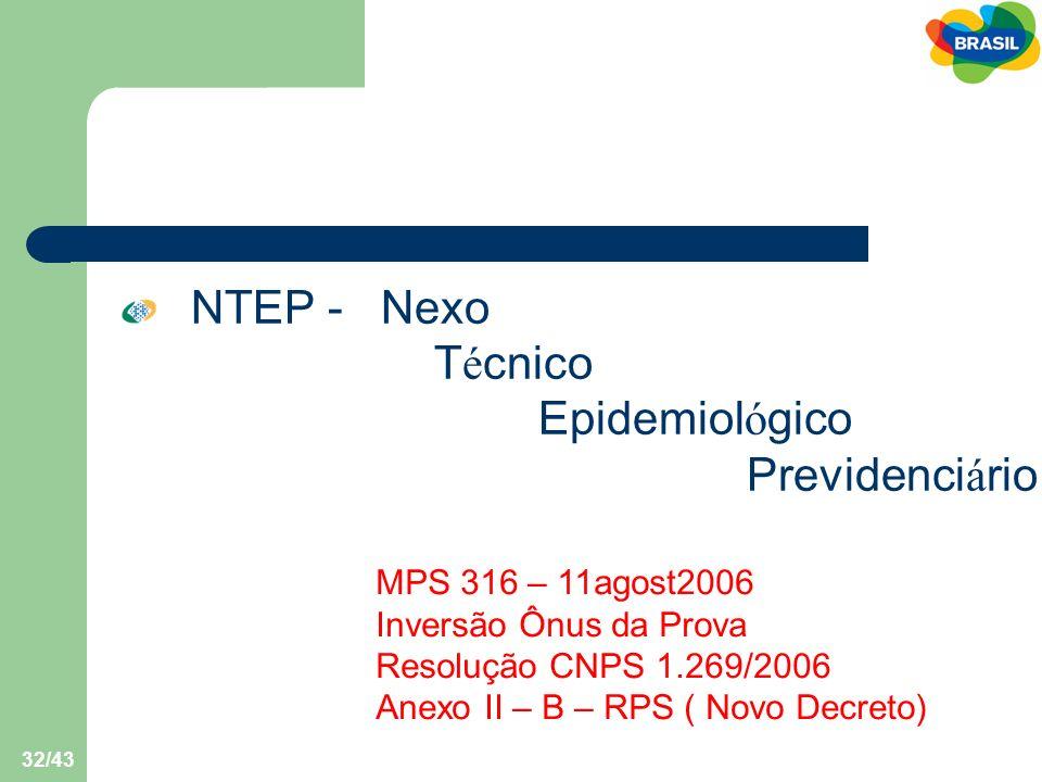 NTEP - Nexo Técnico Epidemiológico Previdenciário