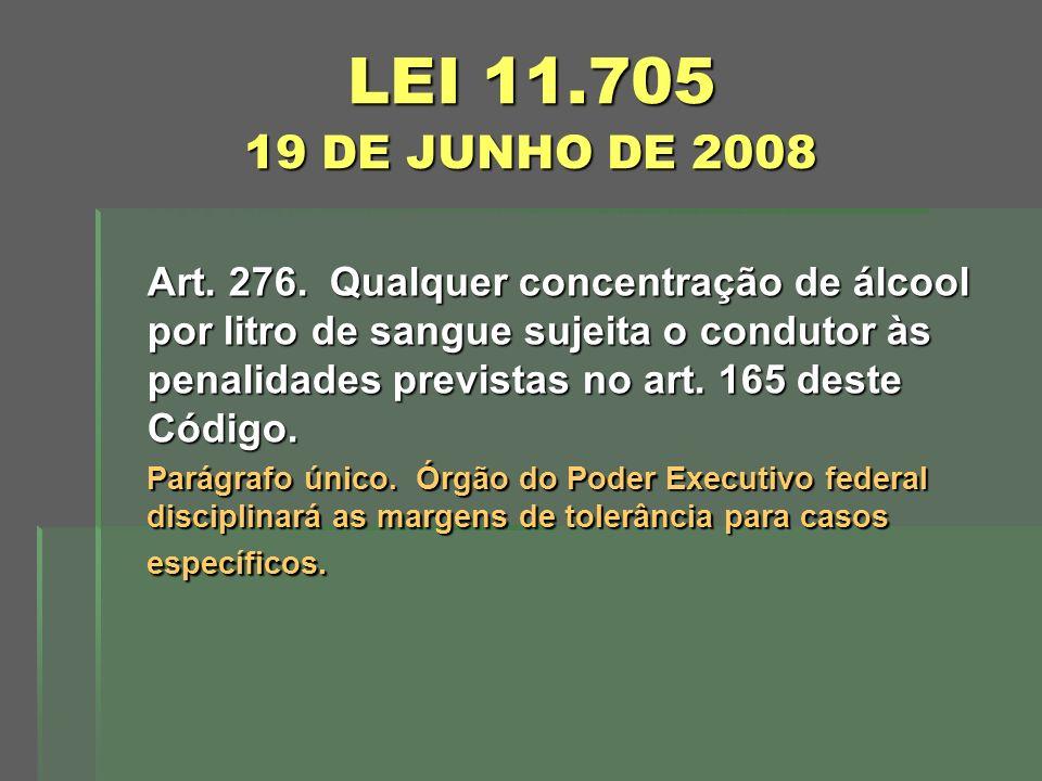 LEI 11.705 19 DE JUNHO DE 2008