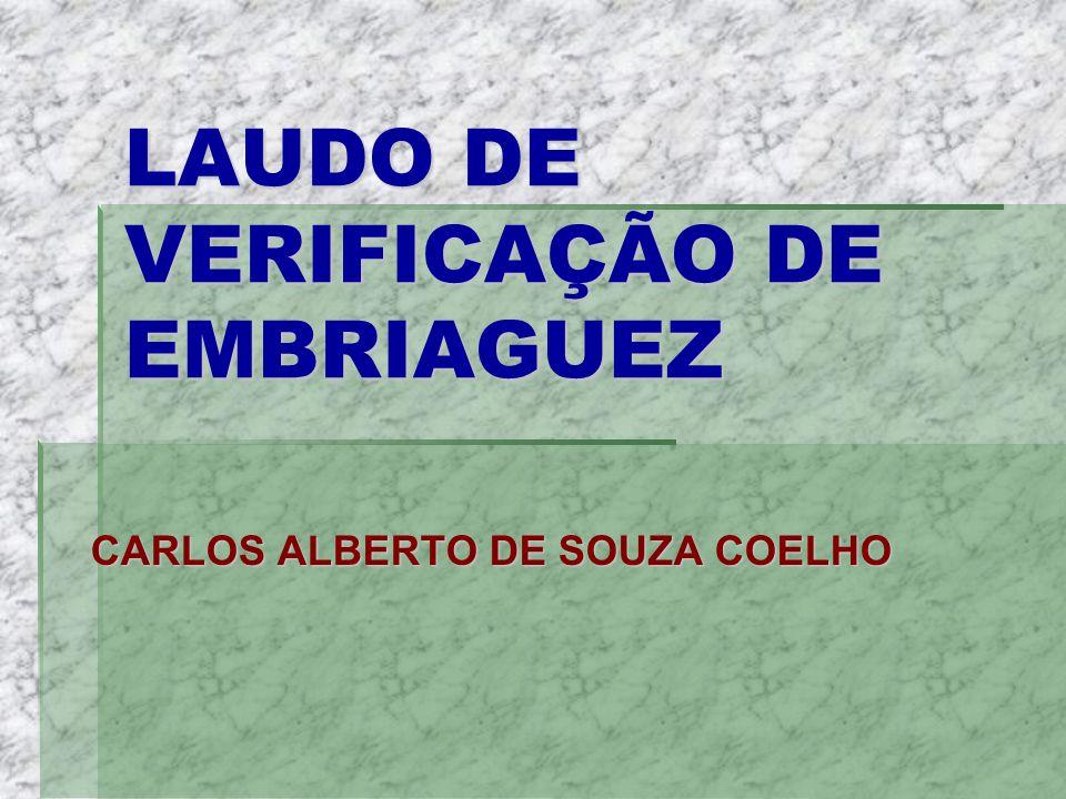 LAUDO DE VERIFICAÇÃO DE EMBRIAGUEZ