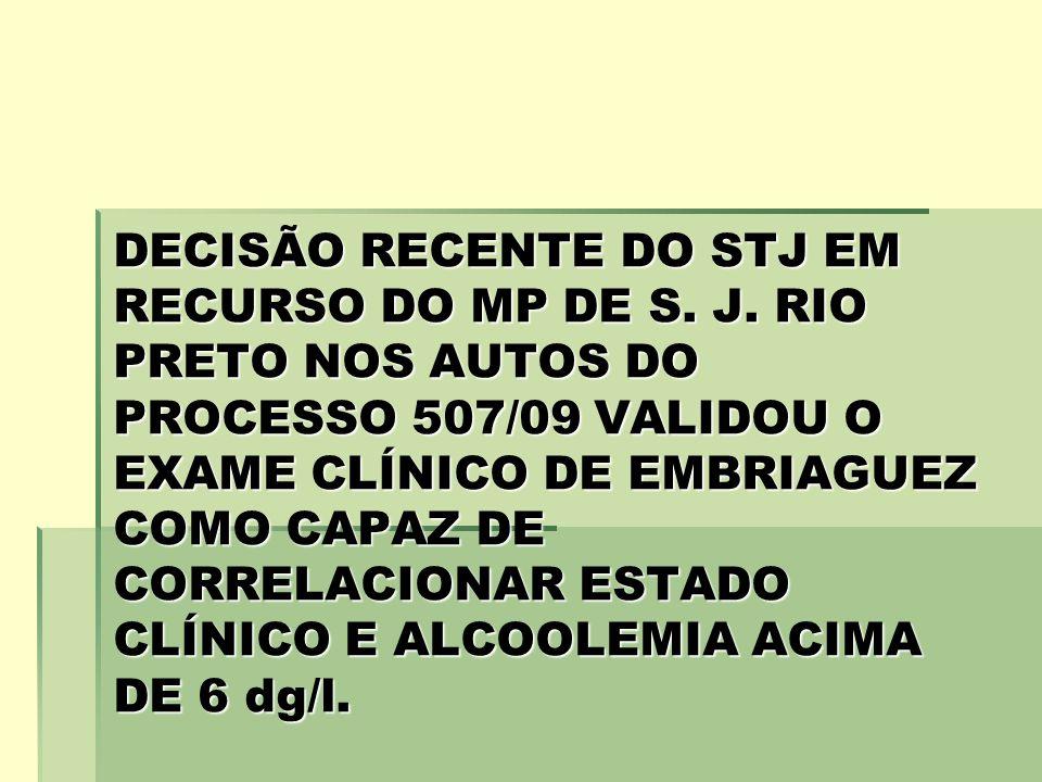 DECISÃO RECENTE DO STJ EM RECURSO DO MP DE S. J