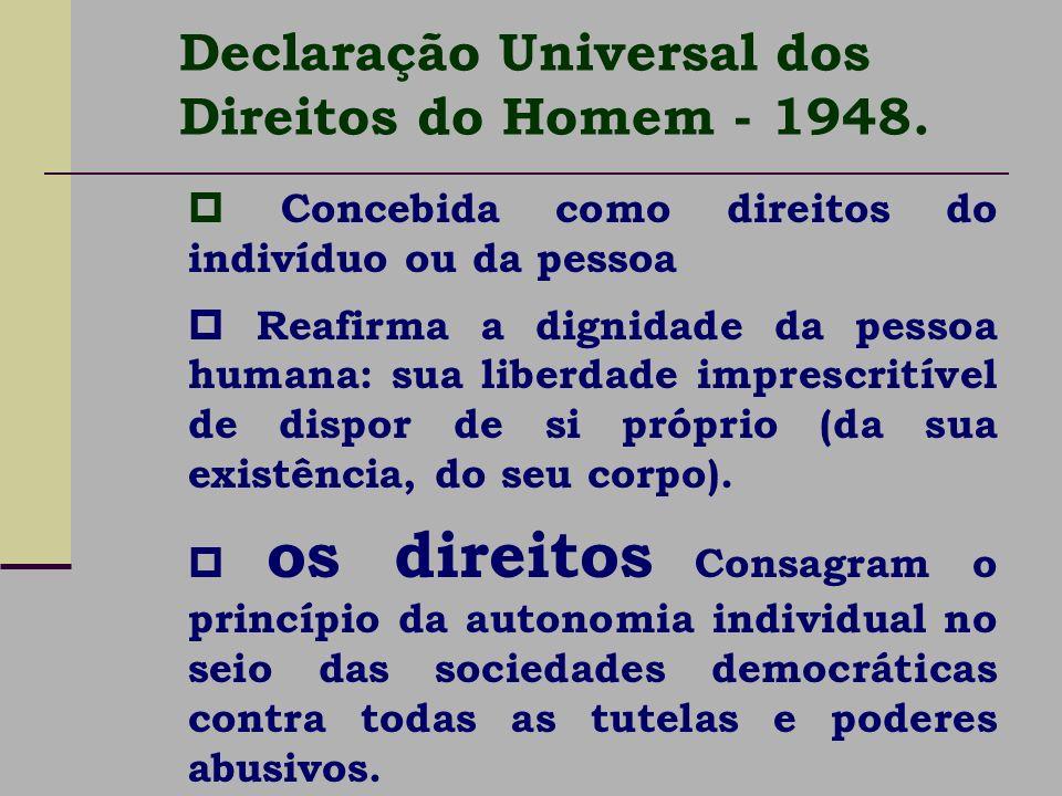 Declaração Universal dos Direitos do Homem - 1948.