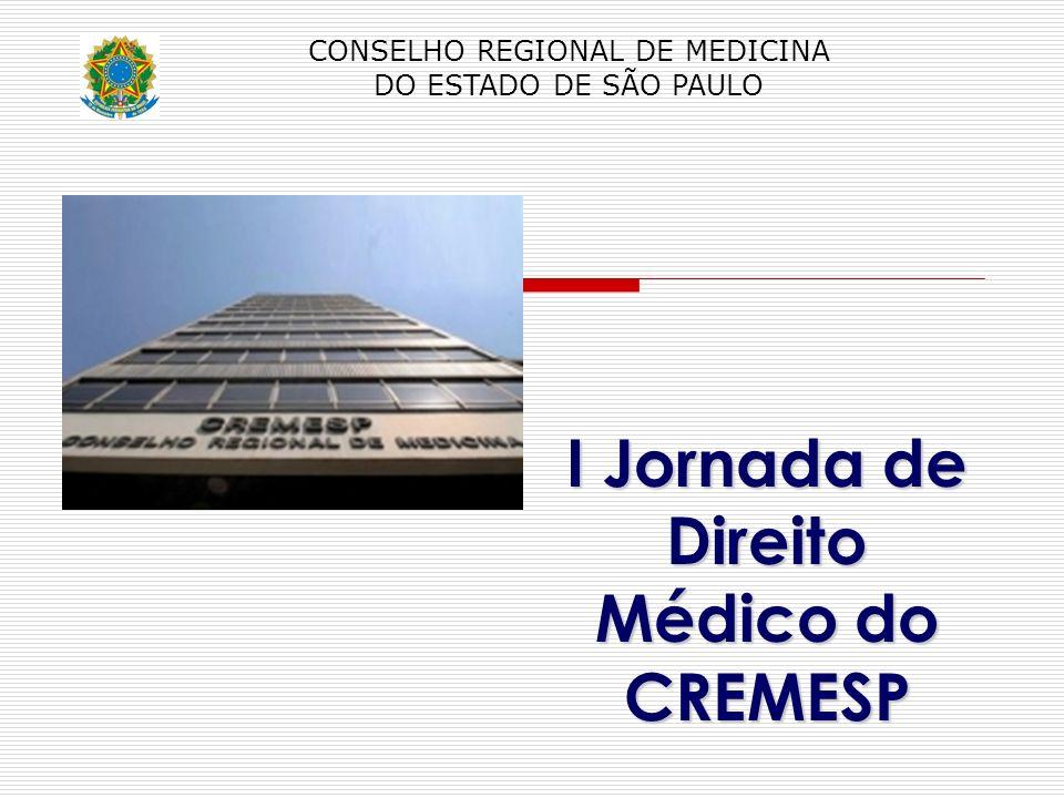 I Jornada de Direito Médico do CREMESP