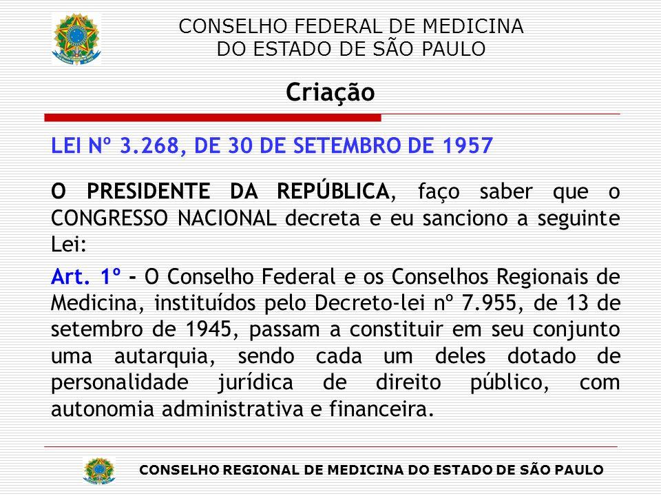 CONSELHO FEDERAL DE MEDICINA DO ESTADO DE SÃO PAULO