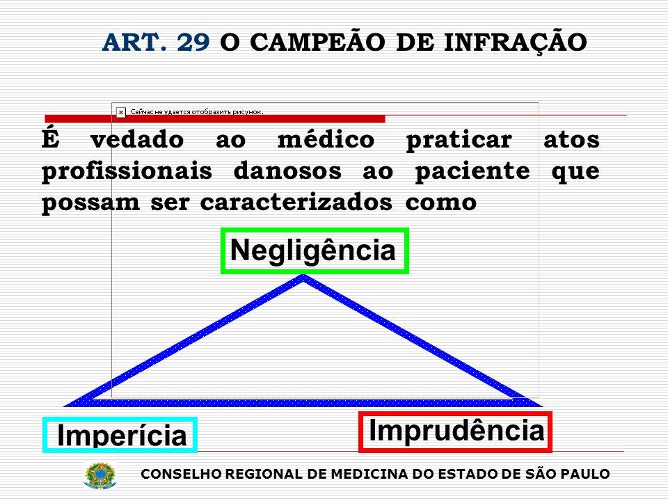 ART. 29 O CAMPEÃO DE INFRAÇÃO
