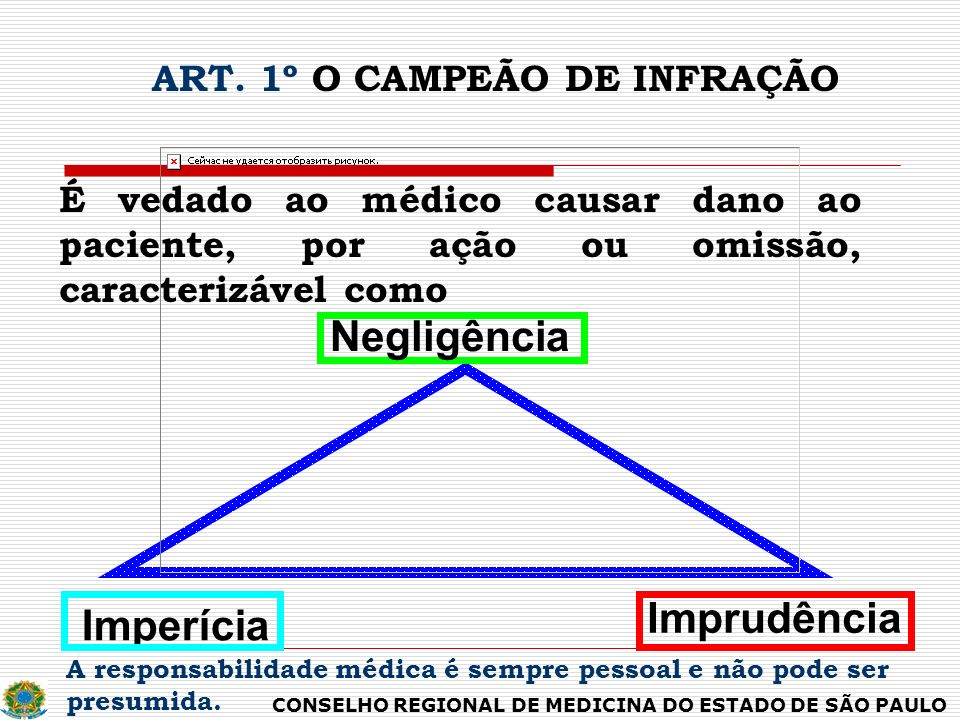 ART. 1º O CAMPEÃO DE INFRAÇÃO