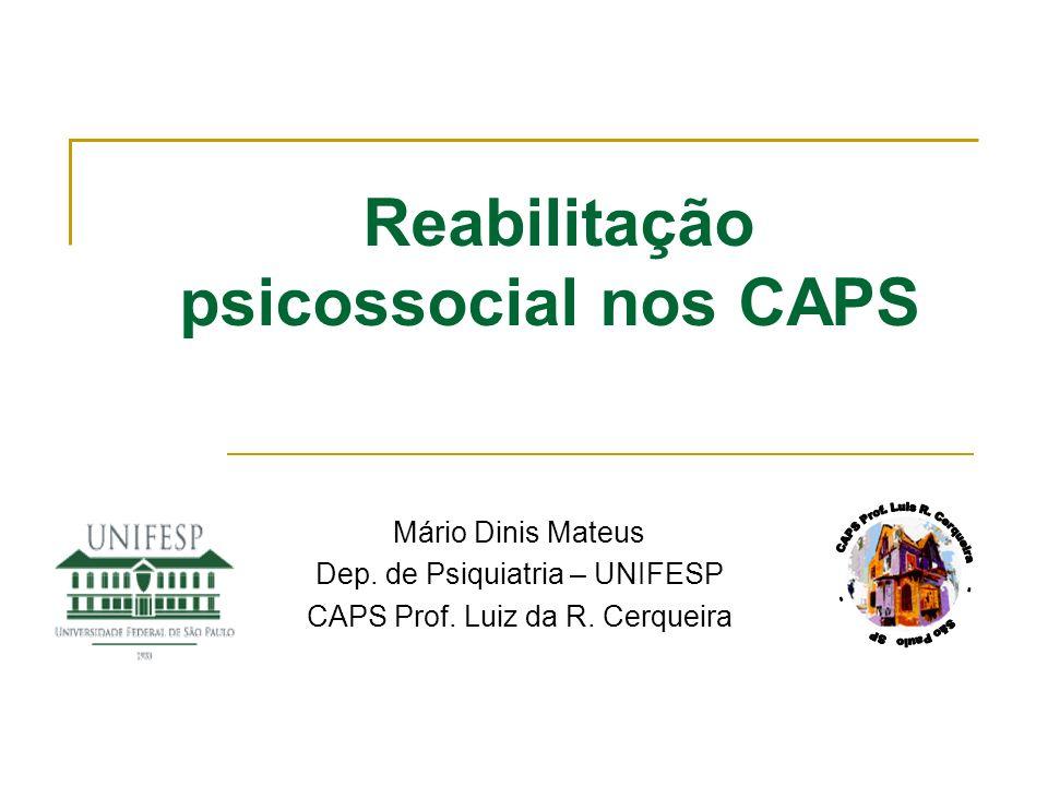 Reabilitação psicossocial nos CAPS