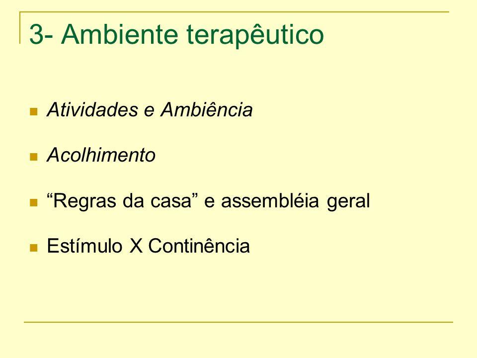 3- Ambiente terapêutico