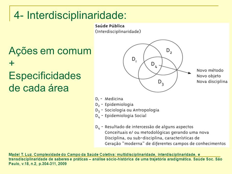 4- Interdisciplinaridade: