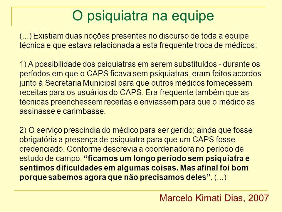 O psiquiatra na equipe Marcelo Kimati Dias, 2007