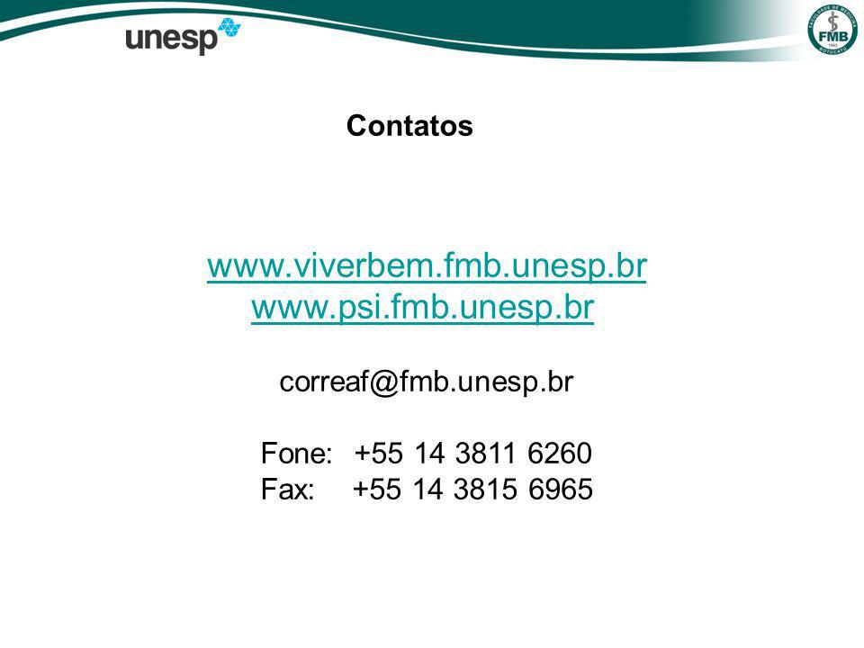 www.viverbem.fmb.unesp.br www.psi.fmb.unesp.br Contatos