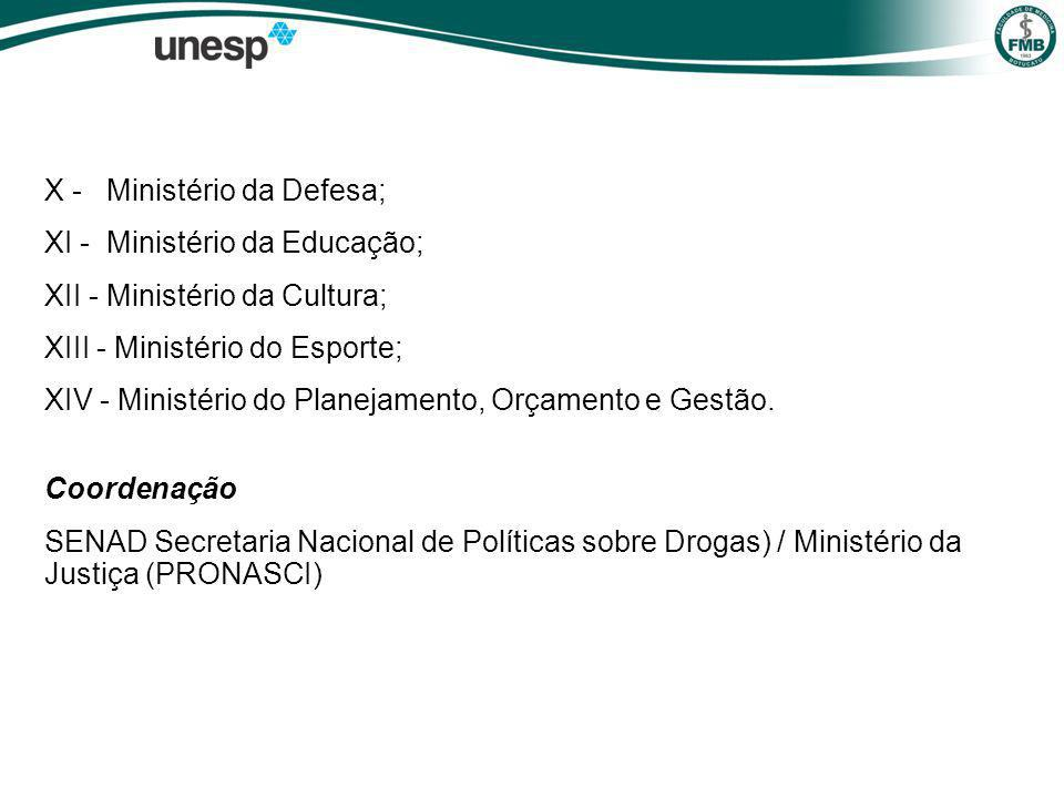 X - Ministério da Defesa;