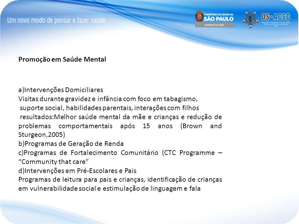 Promoção em Saúde Mental