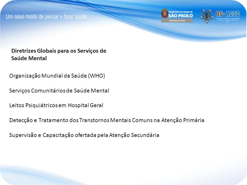 Diretrizes Globais para os Serviços de Saúde Mental