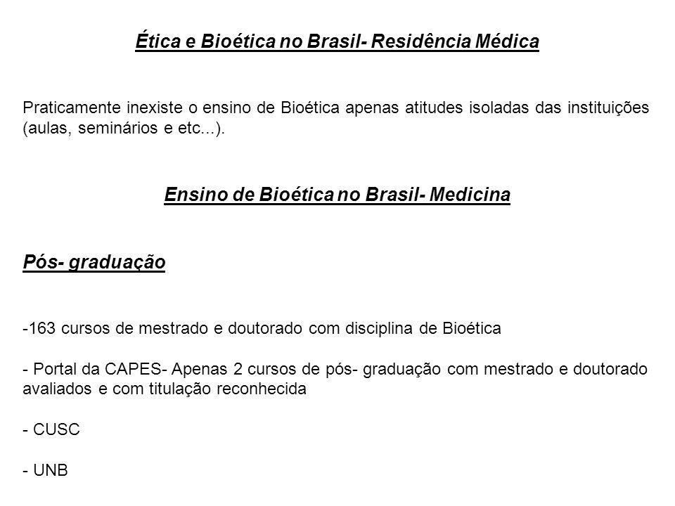 Ética e Bioética no Brasil- Residência Médica