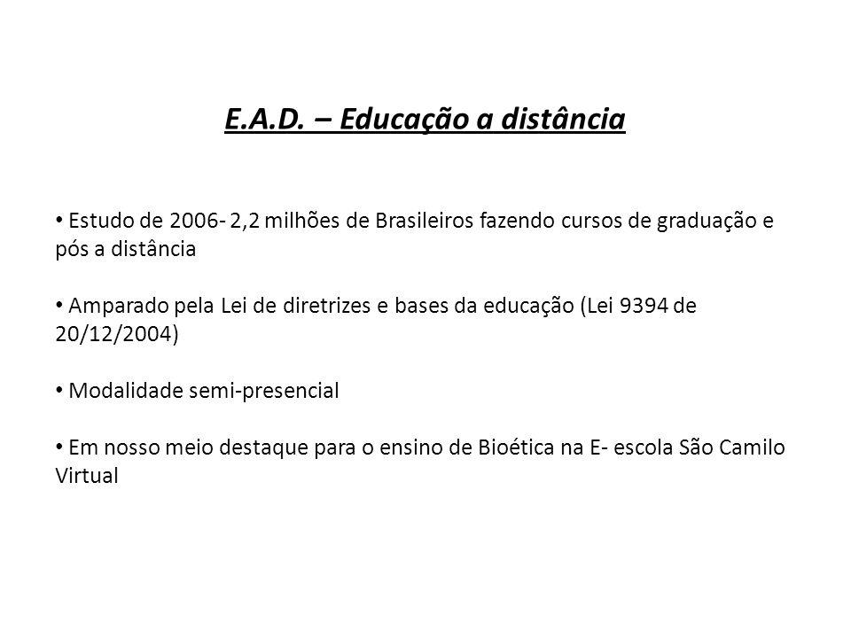 E.A.D. – Educação a distância