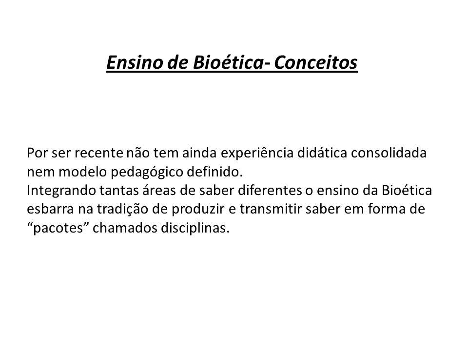 Ensino de Bioética- Conceitos