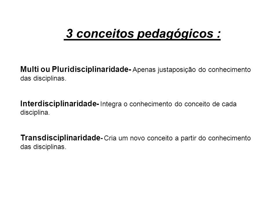 3 conceitos pedagógicos :