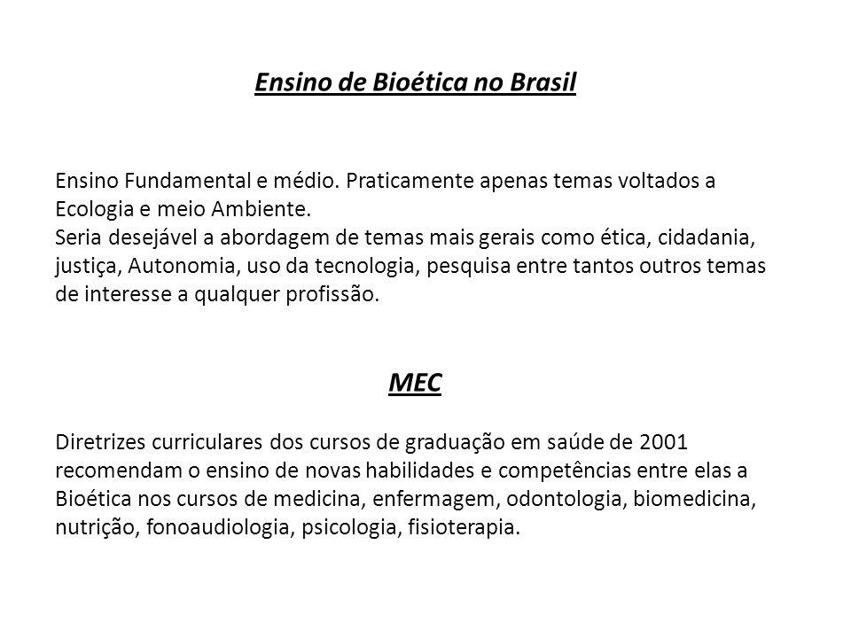 Ensino de Bioética no Brasil