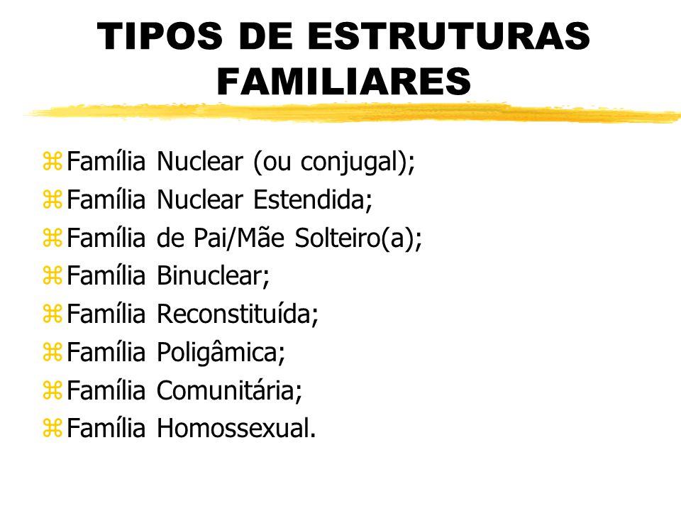 TIPOS DE ESTRUTURAS FAMILIARES