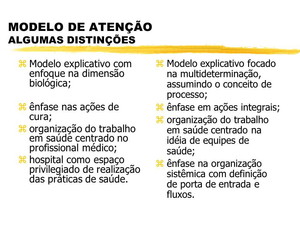 MODELO DE ATENÇÃO ALGUMAS DISTINÇÕES