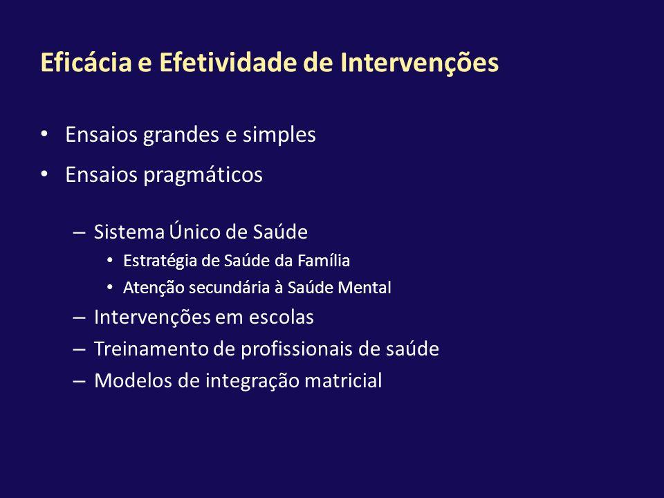 Eficácia e Efetividade de Intervenções