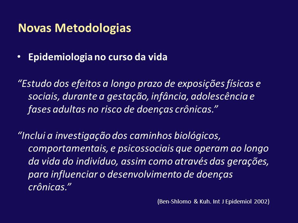 Novas Metodologias Epidemiologia no curso da vida