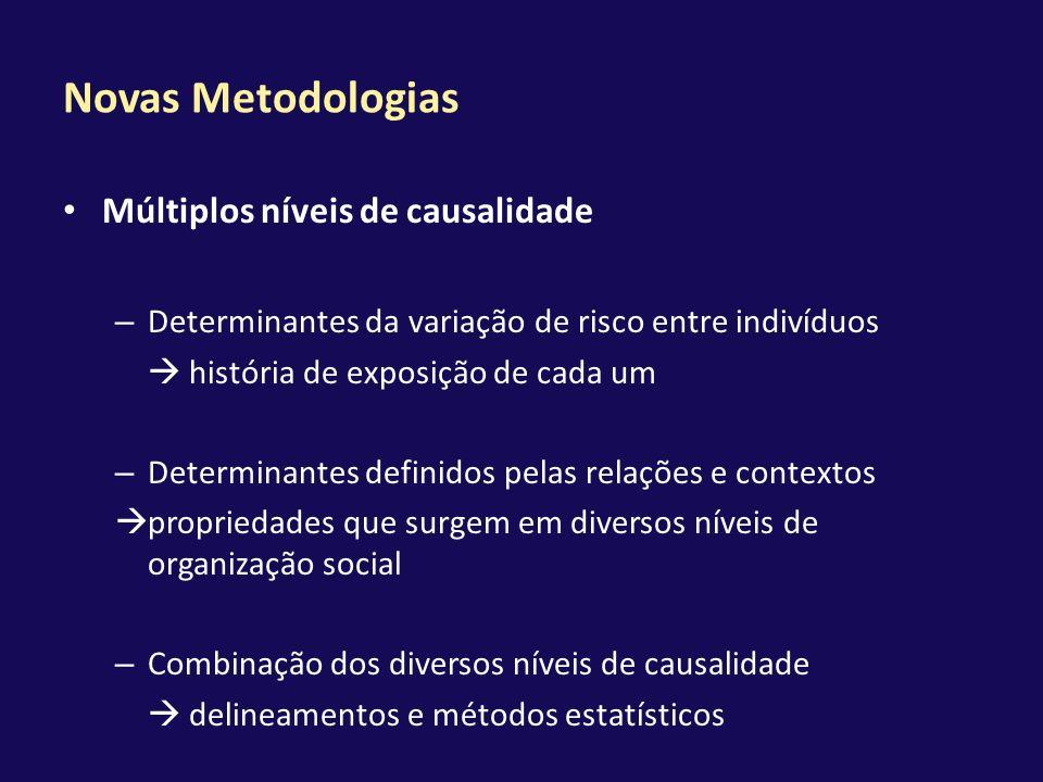 Novas Metodologias Múltiplos níveis de causalidade