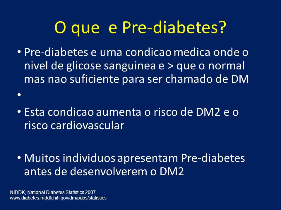O que e Pre-diabetes