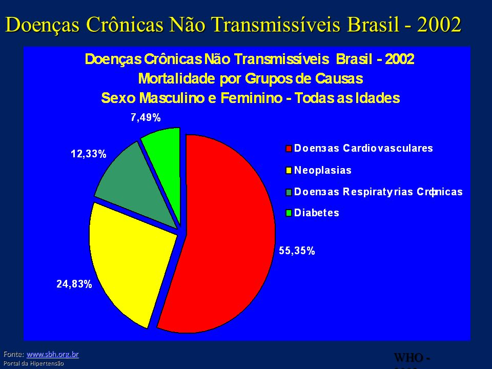 Doenças Crônicas Não Transmissíveis Brasil - 2002