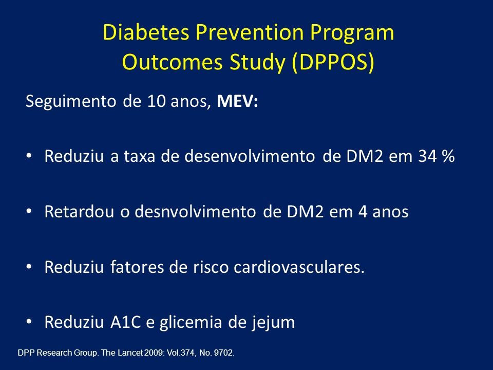 Diabetes Prevention Program Outcomes Study (DPPOS)
