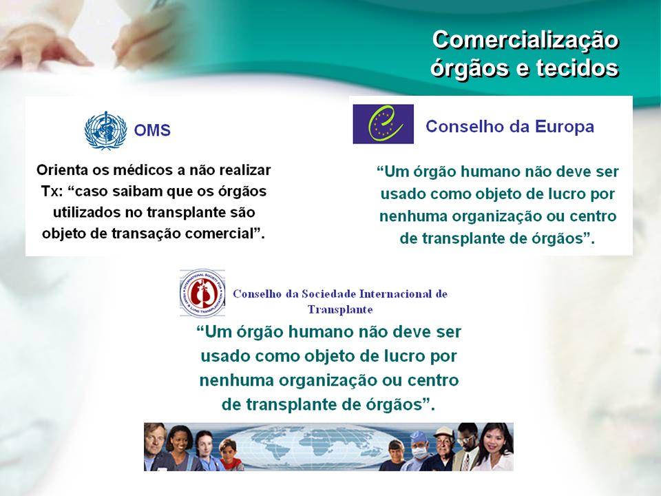 Comercialização órgãos e tecidos